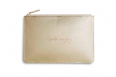 Katie Loxton SPARKLE EVERYDAY  Perfect Pouch Clutch Bag - Metallic Gold